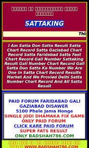 Gali Satta Chart 2015 55 Perspicuous Gali Result Chart