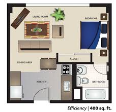 500 Square Feet Apartment Floor Plan 400 Square Foot Apartment Plans Home Floor  Plans Efficiency