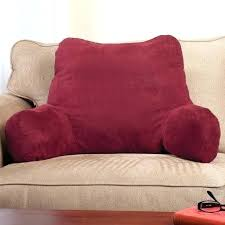 pillow with back and arms bed pillows with armrests backrest pillows for bed unique backrest pillow pillow with back and arms
