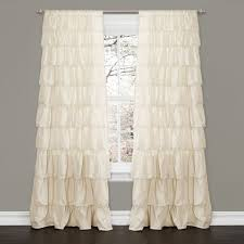 lush decor ivory 84 inch ruffle curtain panel ivory beige off white size 50 x 84 polyester solid