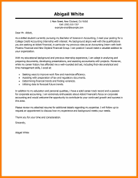 3 Cover Letter Internship Report Examples