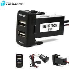 Araba 5 V 2.1A USB Arayüzü Soket şarj Cihazı Ve USB Ses Girişi Soketi  Kullanım