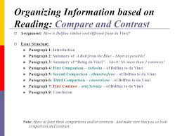 critical thinking organization strategies using reading skills to  organizing information based on reading compare and contrast assignment how is delfina similar and
