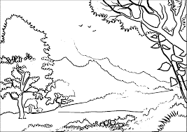 Small Picture Forest Landscapelandscape Coloring Page Wecoloringpage