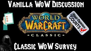 Ultimate Wow Classic Design Survey