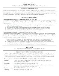 It Support Analyst Resume It Support Resume Resume Format For
