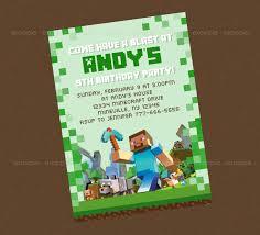40th Birthday Ideas Minecraft Birthday Invitation Template Free