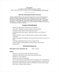 How To Write A Dance Resume Dance Resume Template Project Scope ...