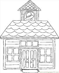 Small Picture school house colouring page 2 Coolagenet
