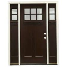unfinished front doorSingle door with Sidelites  Front Doors  Exterior Doors  The