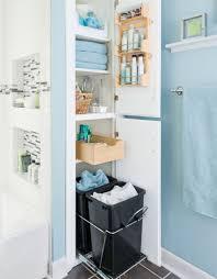 Ikea Bathroom Bin Storage For Bathrooms A Small Bathroom With Light Blue Floor