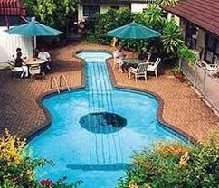 Perfect Cool Shaped Swimming Pools Like Music Guitar Pool For Beautiful Design