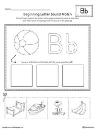 Phonetic quizzes as worksheets to print. Letter B Beginning Sound Picture Match Worksheet Myteachingstation Com