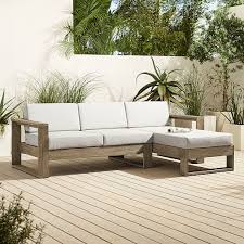 portside outdoor 2 piece chaise sectional