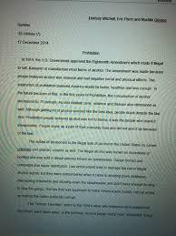quizzes and essays lindsay s e portfolio prohibition essay 1