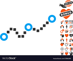 Dotted Chart Icon With Dating Bonus