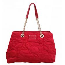Kate Spade Cherry Floral Quilted Large Handbags Cloth Red ref ... & Kate Spade Cherry Floral Quilted Large Handbags Cloth Red ref.21243 Adamdwight.com