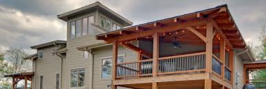 Post And Beam Deck Design Timber Frame Porch Deck Entrance Projects Built By Moresun