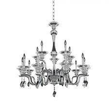allegri 028074 010 fr001 lusso 15 light 2 tier crystal chandelier in chrome with firenze clear crystal