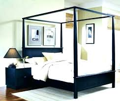 King Canopy Bed Frame Wood Canopy Bed Frame Canopy Platform Bed This ...