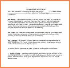 sponsorship agreement non profit sponsorship agreement template 9 non profit sponsorship