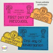 free preschool certificates welcome to school pack for preschool kindergarten