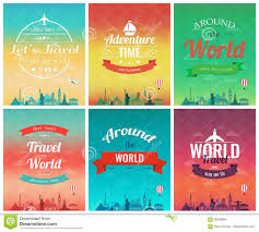 Travel Brochure Cover Design Travel Brochure With World Landmarks Template Of Magazine