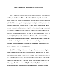 Sample 5 Paragraph Thematic Essay