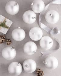 ... BH Essentials Small White Matte Ornament Set, 12 Pieces by Balsam Hill  ...