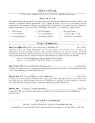 Payroll Resume Custom Sample Payroll Resume Mmventuresco