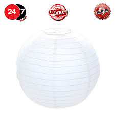 11 of 12 50cm white paper lampshade classic bamboo style paper lantern lamp shade