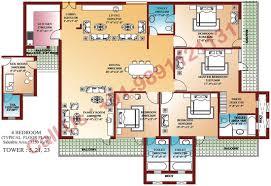 Small Four Bedroom House Plans Parsvnath Developer Floor Plan Parsvnath La Tropicana Civil