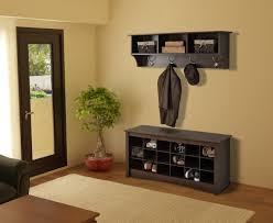 Modern Hall Tree Coat Rack Mudroom Corner Hall Tree Narrow Bench Hallway Bench And Coat Hook 95