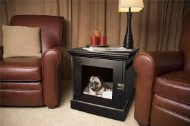 furniture pet crate. Image Of: Black Dog Crate End Table Furniture Pet