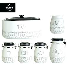 white kitchen canisters sets