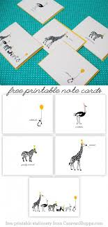 Free Printable Note Cards Free Printable Animal Note Cards