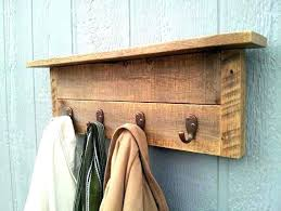 Wood Coat Rack Wall Magnificent Rustic Coat Hanger Rustic Wood Wall Mount Coat Hook Rack Wall