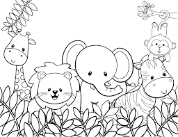 Baby Safari Animals Coloring Page Coloring Pages Disegni Da