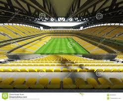 3d Geef Van Groot Capaciteits Een Voetbal Voetbal Stadion Met Een