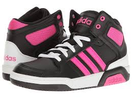 adidas girls. adidas kids bb9tis mid (little kid/big kid) (black/shock pink girls