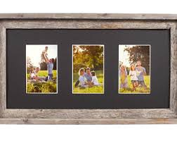 multiple picture frames wood. BarnwoodUSA | Multi Opening Mat With 100% Reclaimed Wood Frame (3 Opening, Black) For 4x6, And 5x7 Multiple Picture Frames