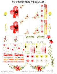 Free Floral Planner Stickers Printable Dawn Nicole Designs