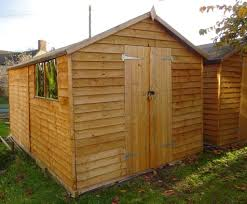 wooden garden shed 12ft x 8ft double doors side windows available now