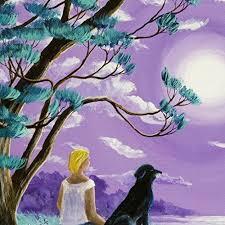 original yoga painting omwoman yoga meditate. Delighful Yoga Amazoncom Black Lab Dog Woman Meditating Lavender Moon Seascape Zen  Meditation Purple Wildflowers Original Painting On Canvas Wall Art Handmade Throughout Yoga Omwoman Meditate