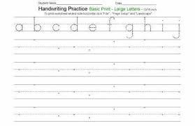 Printable Alphabet Writing Practice Sheets Handwriting Practice For Kindergarten Elegant Free Alphabet