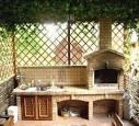 Летние кухни пристроенные к дому фото
