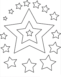 Small Picture Colorful Stars Coloring Coloring Pages