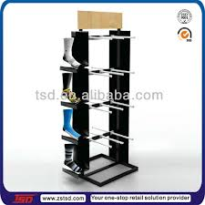 Merchandise Display Stands Custom Tsdw32 Supermarket Pos Floor Standing Mdf Wooden Socks Display