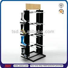 Merchandise Display Stands Custom Tsdw32 Supermarket Pos Floor Standing Mdf Wooden Socks Display