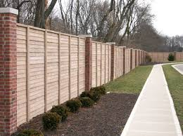 Small Picture Cool Brick Wood Fence Design 7712